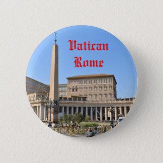 Square in Rome, Italy 2 Inch Round Button