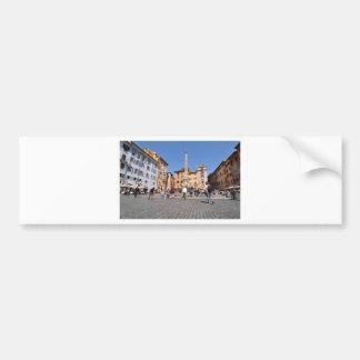 Square in Rome, Italy Bumper Sticker