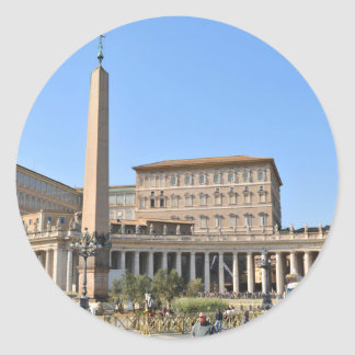 Square in Rome, Italy Classic Round Sticker