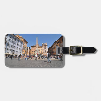 Square in Rome, Italy Luggage Tag