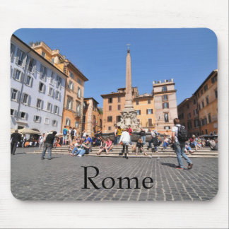Square in Rome, Italy Mouse Pad