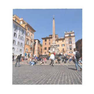 Square in Rome, Italy Notepad
