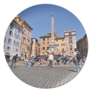 Square in Rome, Italy Plate