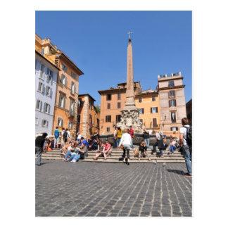 Square in Rome, Italy Postcard