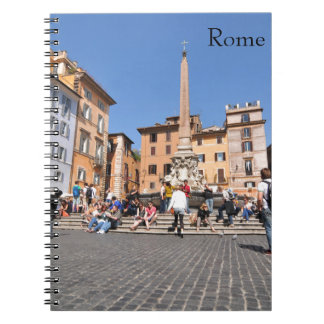 Square in Rome, Italy Spiral Notebook