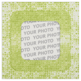 Square in Square Frame dots III + your photo Fabric
