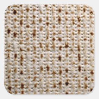Square Jewish Matzo Stickers