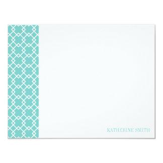 Square Lattice Geometric Pattern {Mint} Card