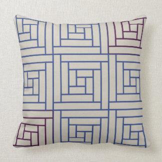 Square lattice throw pillow