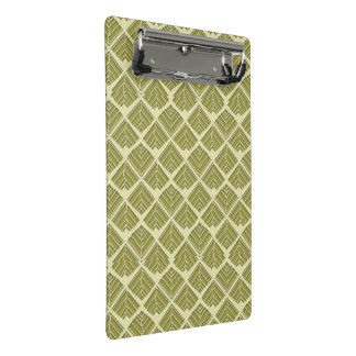 Square Leaf Pattern Gold Lime Light Mini Clipboard