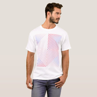 Square lines patterns man shirt