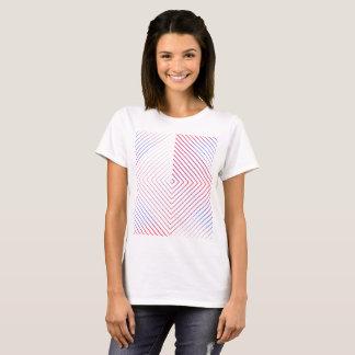 Square lines patterns women shirt