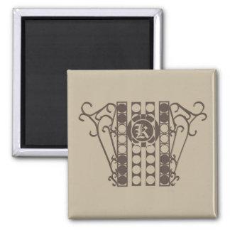 Square Magnet IRONWORK SCROLLWORK 2