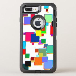 Square minimalists with contour gradient OtterBox defender iPhone 7 plus case