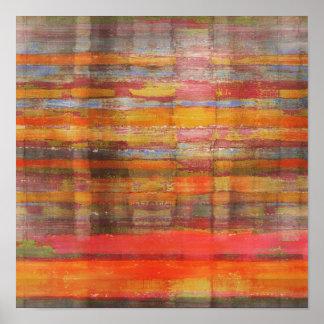 Square Modern Art Gobi Desert Poster Print