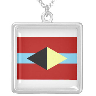 Square necklace with AL-BU-KURKY symbol