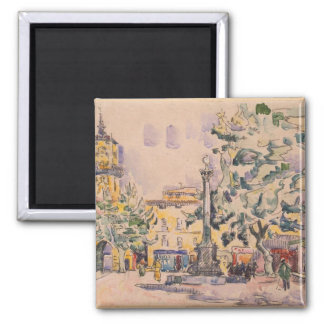 Square of the Hotel de Ville in Aix-en-Provence Magnet