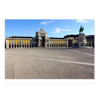 Square of Trade, Lisbon, Portugal Postcard