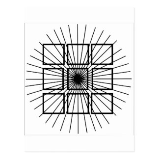 Square Optical Illusion Postcard