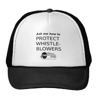 Square-or-circle- Ask Me - WhistleBlowers Trucker Hat