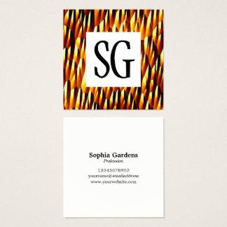 Square Panel - Initials - Secret Cave Square Business Card