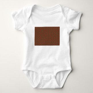 Square pattern baby bodysuit