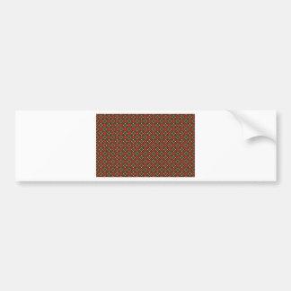 Square pattern bumper sticker