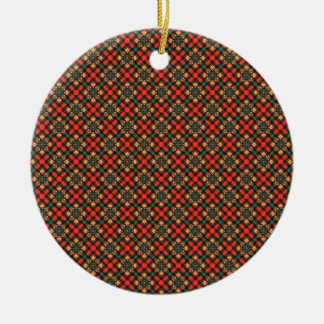 Square pattern ceramic ornament