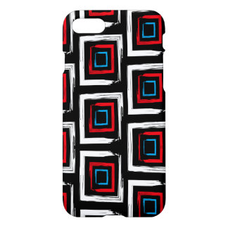 Square pattern Custom iPhone 7 Glossy Case