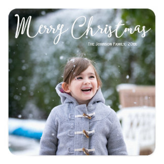 Square Personalized Photo Christmas Card Greetings