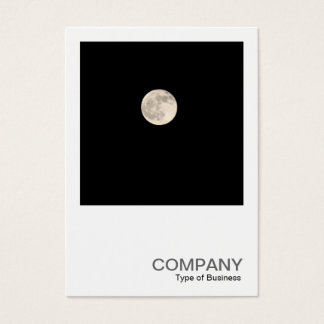 Square Photo 0436 - Full Moon Business Card