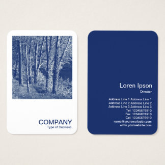 Square Photo 0592 - Trees by a River - Cyanotype Business Card