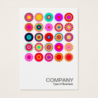 Square Photo 091 - 25 Colorful Mandalas Business Card
