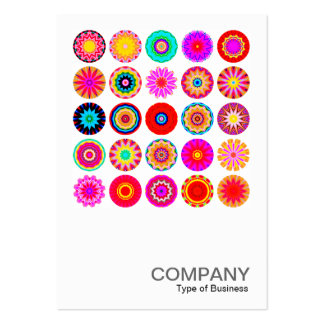 Square Photo 091 - 25 Colorful Mandalas Large Business Card