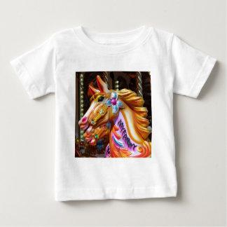Square Photo - Merry-go-round Horses Baby T-Shirt