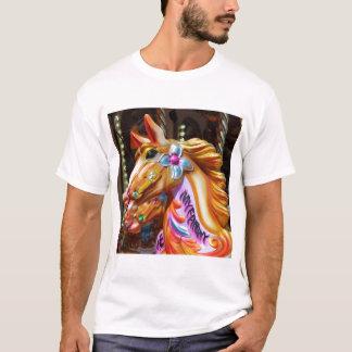 Square Photo - Merry-go-round Horses T-Shirt
