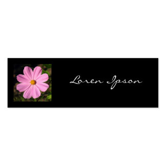 Square Photo - Pink Cosmos Mini Business Card