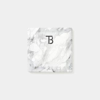 Square Photo Stone Marble Logo Marketing Post-it Notes