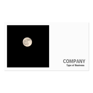 Square Photo (v2) - Full Moon Business Card