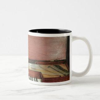 Square piano, 1767 (photo) Two-Tone coffee mug