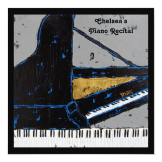 Square piano recital invitation