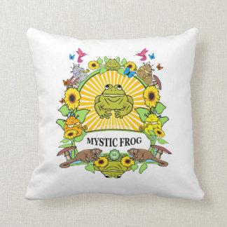 square pillow - Munchi Power! - MYSTIC FROG logo