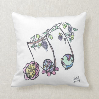 square pillow--triplets throw pillow