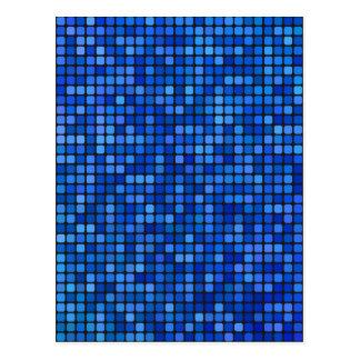 square pixel postcard