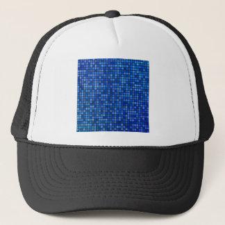 square pixel trucker hat