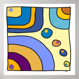 "Square poster average model ""Bubble Gum Art """