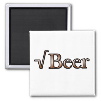 Square Root Beer Square Magnet