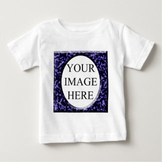 Square round blue template baby T-Shirt