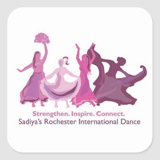 Square Sadiya's Rochester International Dance Square Sticker