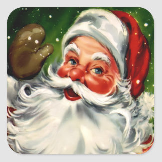 Square Santa Claus Sticker